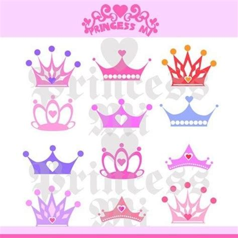 small clipart princess crown pencil and in color small