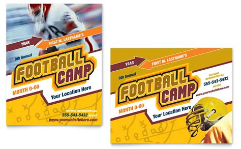 Templates For Sports Posters | football sports c poster template word publisher