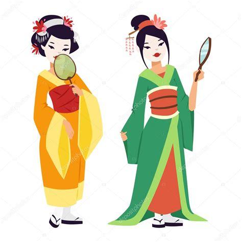 geisha clipart vector japanese geisha stock vector 169 adekvat