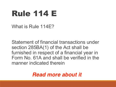 section 61 of income tax act filing form no 61a for statement of financial transactions