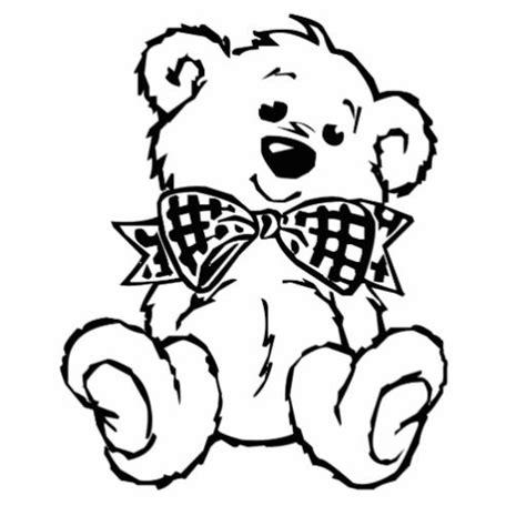 teddy bear cut out template teddy bear with bow tie