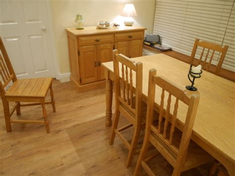 solid oak kitchen table 6 matching chairs and matching