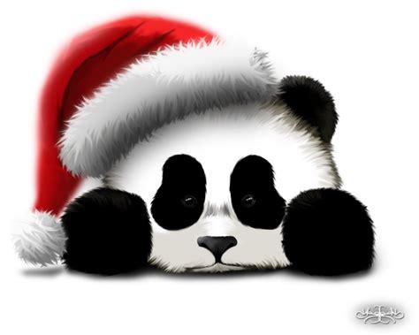 cute christmas panda bear sad panda in christmas hat by hazey1988 on deviantart