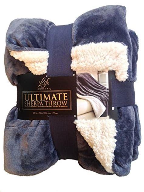 life comfort throw blanket life comfort ultimate sherpa throw blanket slate blue