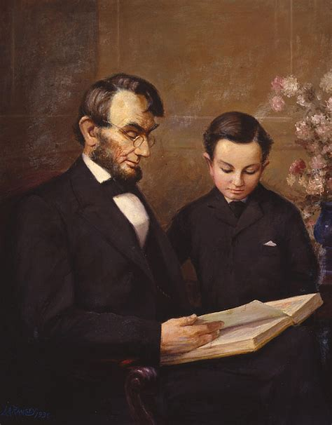 abraham lincoln lewis biography father and son painting by lewis a ramsey