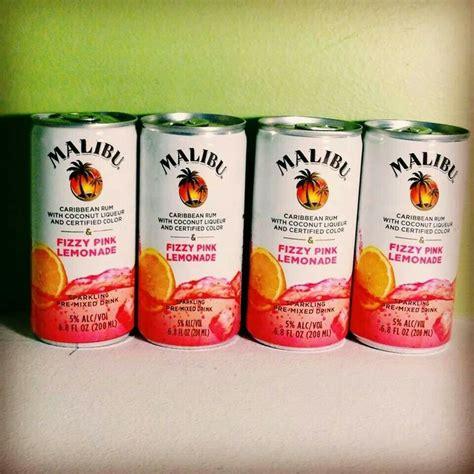 malibu rum can malibu rum fizzy pink lemonade it s 5 o clock somewhere