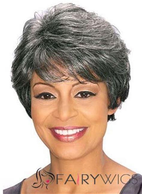 sweety short wavy gray african american lace wigs for women 6 inch wigs pinterest short 17 best images about african american short wigs on