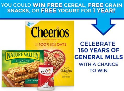 General Mills Sweepstakes - general mills anniversary instant win game sweepstakesbible