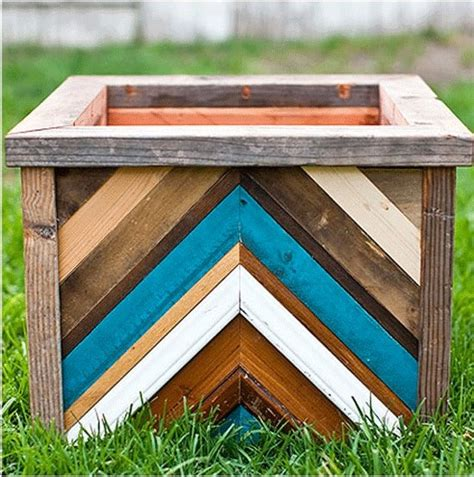 unique planter box from recycled wood recycled wood
