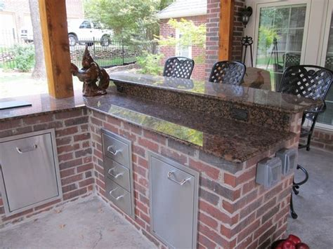 brick outdoor kitchen red brick outdoor kitchen