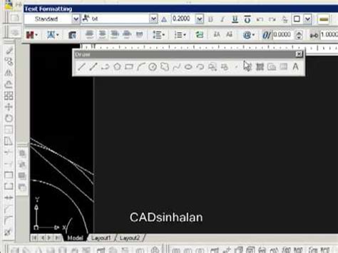 tutorial autocad 2009 youtube autocad draw tutorial part05 youtube