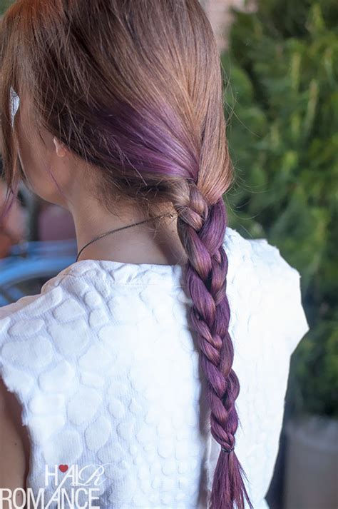 pictures of blue hair braided into brown hair hair trends purple ombre hair and plaits hair romance