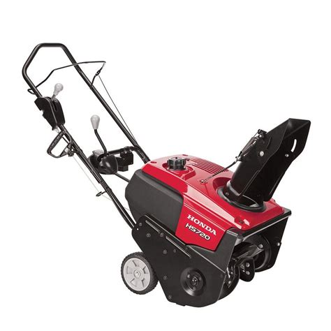small snow blowers home depot honda hs720as 20 in single stage electric start gas snow