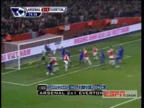 epl highlights espn arsenal vs everton 2 1 01 02 2011 all goals espn