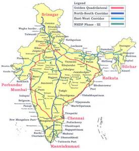 important national highways in india gk planet