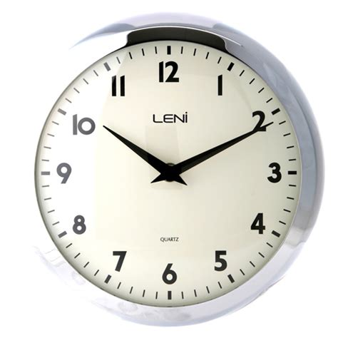 clock buy buy leni chrome retro wall clock purely wall clocks