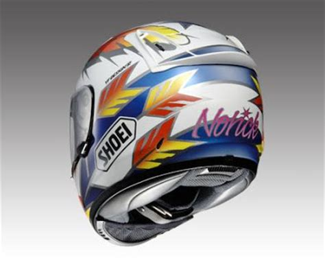 Helmet Shoei Di Jepun racing caf 232 shoei x eleven replica norick 94