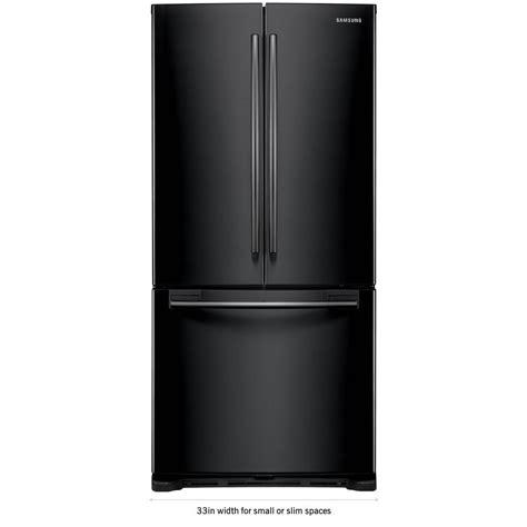 Black Door Refrigerator by Samsung 33 In W 19 4 Cu Ft Door Refrigerator In