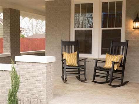 porch rocking chairs on fixer photos hgtv