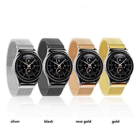 Milanese Samsung Gear S3 Classic Frontier Stainless Steel Band ᓂmilanese magnetic loop steel band ᐃ for samsung gear s3 இ frontier frontier classic
