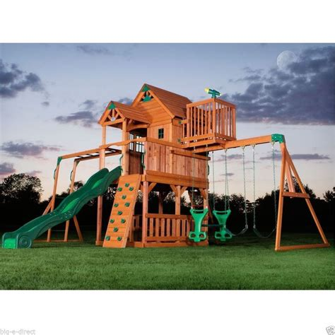 menards wooden swing sets outdoor wooden swing set toy playhouse playset with slide