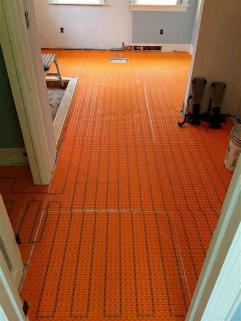 heated bathroom floor systems heated tile floor benefits of radiant heating for bathroom