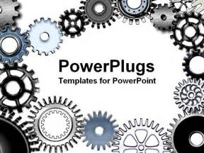 powerpoint gears template mechanic gears and wheels powerpoint template background