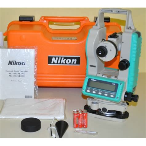 Theodolite Nikon Ne 102 nikon ne 102 electronic digital theodolite