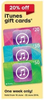 Free Itunes Gift Cards Australia - expired 20 off itunes gift cards at australia post this week gift cards on sale