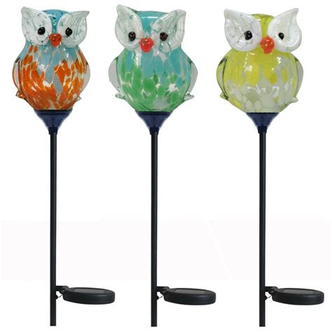Solar Lawn Lights Home Depot - 30 in owl solar stake light bw15147 the home depot