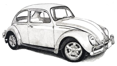 volkswagen bug drawing vw beetle classic drawing