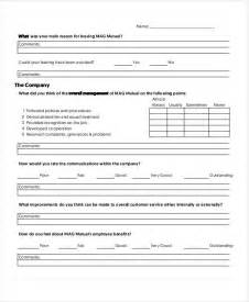 Exit Forms Templates by Doc 460595 Employee Exit Form Template Exit
