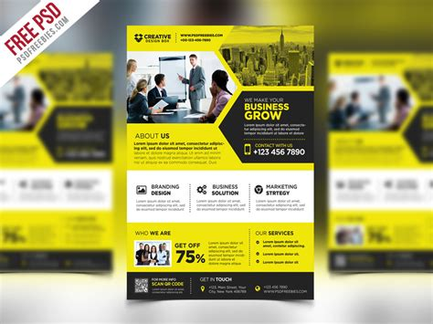 templates for promotional flyers corporate business promotional flyer psd template