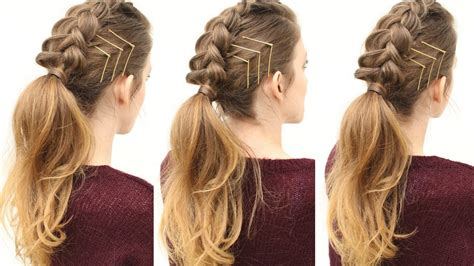 edgy hairstyles with braids braided ponytail hairstyles fade haircut