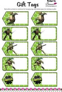gift tag ninja turtles gift tags free printable ideas