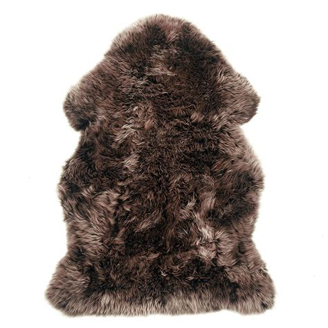 sheepskin rug brown u s sheepskin shag rug single pelt with brown tips ultimate sheepskin