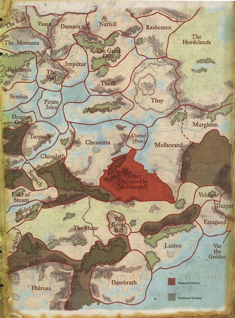 political map  faerun east