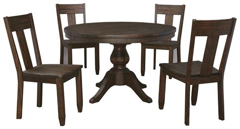 5 Piece Round Dining Table Set With Wood Seat Side Chairs 5 Dining Table Set