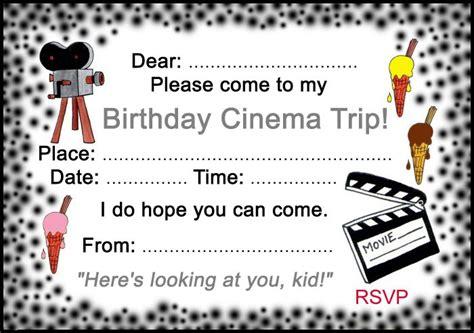 cineplex queensway birthday party birthday cinema trip invitation rooftop post printables