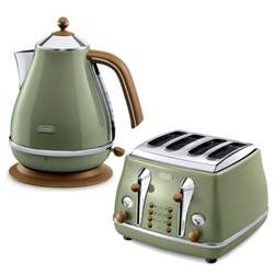 Morphy Richards Cream Toaster De Longhi Icona Vintage 4 Slice Toaster And Kettle Bundle