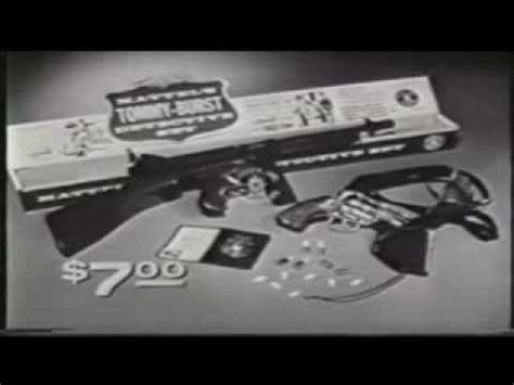 tommy burst gun by mattel toys commercial. 1960's youtube