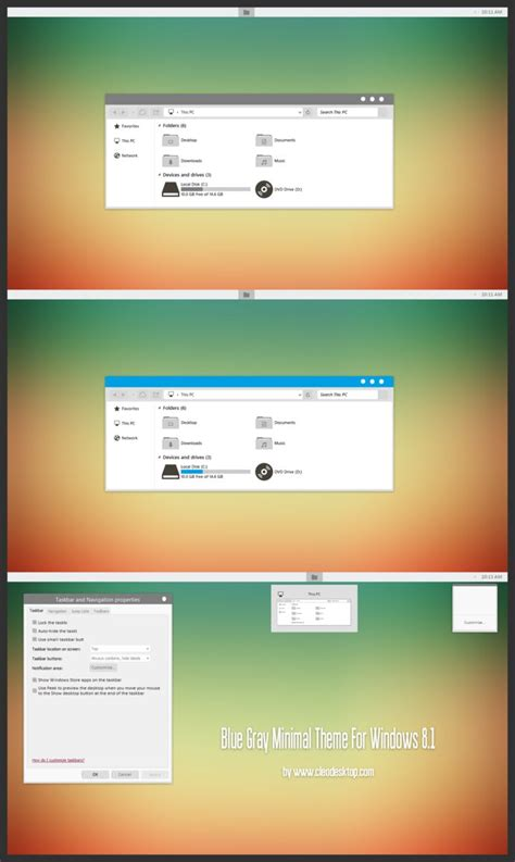 gray themes for windows 8 1 blue gray minimal theme for windows 8 1 by cleodesktop on
