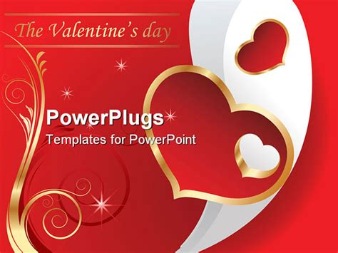 valentines card powerpoint template powerpoint template s day theme with the