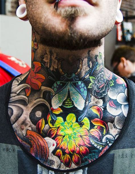 full neck tattoos neck designs for mens neck ideas