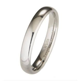 Pch Jewelers - pch jewelers 4mm white tungsten wedding band ring sizes 4 to 10 dome