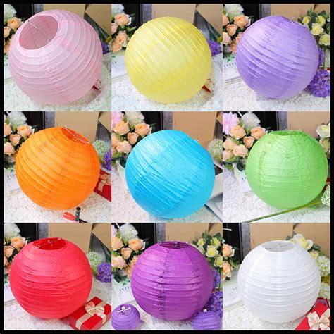 Kertas Gantung Paper Lantern 30 Cm 10pcs lot 12 30cm paper lantern l festival wedding decoration purple white