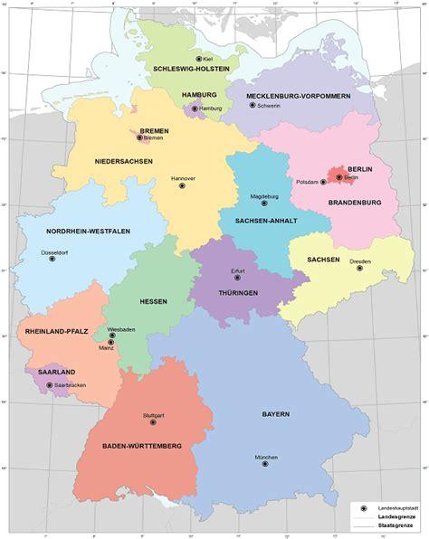 deutsches büro grüne karte hamburg bundesl 228 nder deutschland karte hauptst 228 dte landkreise
