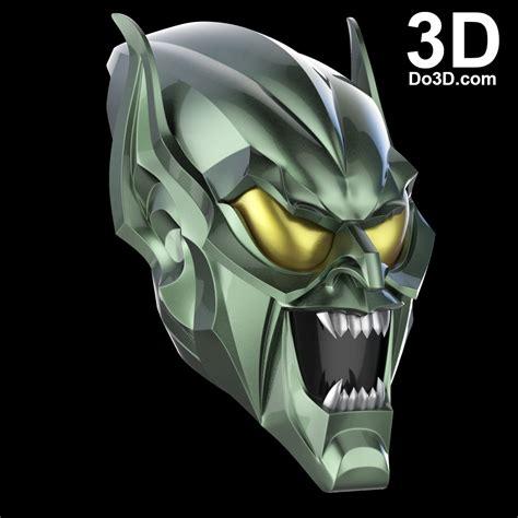 printable goblin mask 3d printable model green goblin helmet mask cowl from