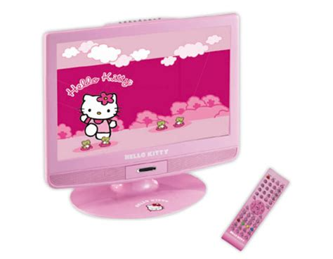 hello kitty 19 inch customized tv lcd with built in dvd