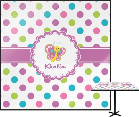 Playette 2 In 1 Support Butterfly Dot polka dot butterfly square table top 30 quot personalized youcustomizeit